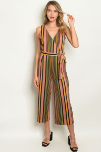 S9-16-2-J4857 BLACK MULTI STRIPES JUMPSUIT 2-1-1