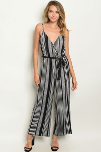 S15-11-3-J4697 BLACK IVORY STRIPES JUMPSUIT 2-1-1