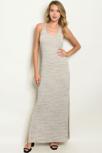 C7-A-7-D8022 OATMEAL GRAY DRESS 2-2-2