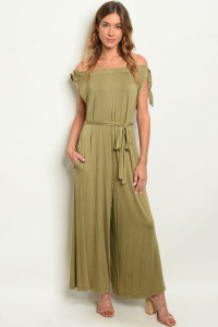 S11-8-3-J6252 OLIVE OFF SHOULDER JUMPSUIT 3-3