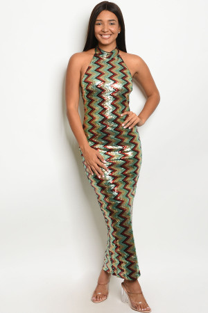 S11-8-2-D50014 MINT MULTY SEQUINS DRESS 2-2-2 ***WARNING: California Proposition 65***