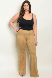 S9-5-3-P34939X TAUPE PLUS SIZE PANTS 2-2-2