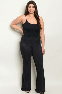 S9-5-4-P34939X BLACK PLUS SIZE PANTS 2-2-2