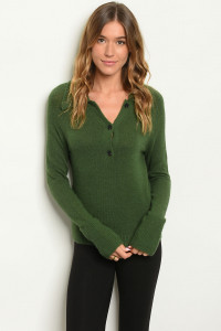 S7-8-1-S7039 GREEN SWEATER 3-2-1