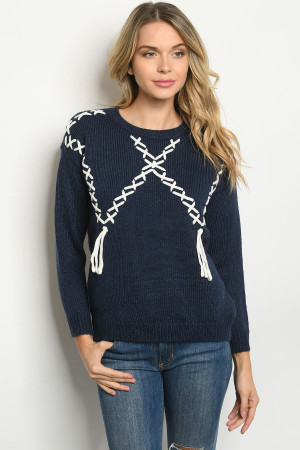S21-6-3-S33522 NAVY SWEATER 2-2