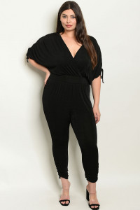 S16-1-2-J8108X BLACK PLUS SIZE JUMPSUIT 2-2-2-2