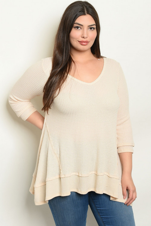C17-A-1-T1088X NATURAL PLUS SIZE TOP 3-2-2