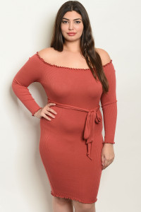 C25-A-2-D1865X BRICK PLUS SIZE DRESS 2-2-2