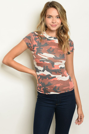 C28-B-2-T4672 BROWN CAMOUFLAGE TOP 2-2-2