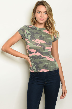 C32-B-5-T4672 OLIVE CAMOUFLAGE TOP 2-2-2