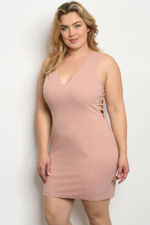 S20-2-4-D9573X MAUVE PLUS SIZE DRESS 2-2-2