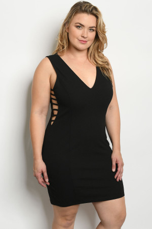 S17-1-3-D9573X BLACK PLUS SIZE DRESS 1-1-1