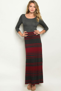 S9-9-3-D3083 CHARCOAL BERRY DRESS 2-2-2