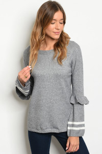 S23-8-1-S8040 GRAY SWEATER 2-2-1