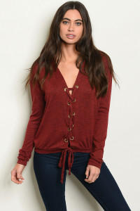 S10-20-2-T5968 BURGUNDY TOP 2-2-2