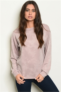 C98-B-7-T2074 MAUVE WASHED TOP 2-2-2