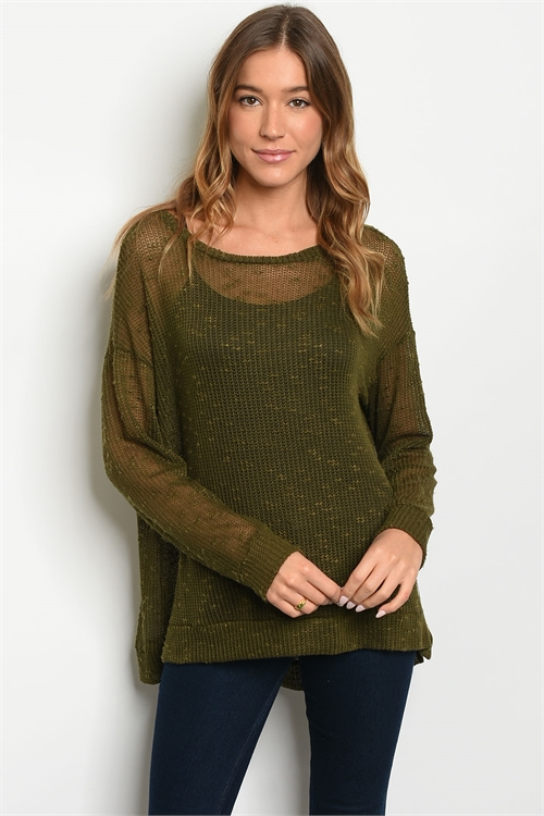 S11-13-1-T16101 OLIVE TOP 2-2-2