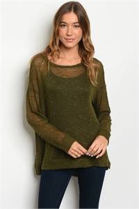 S14-7-4-T16101 OLIVE TOP 1-3-1