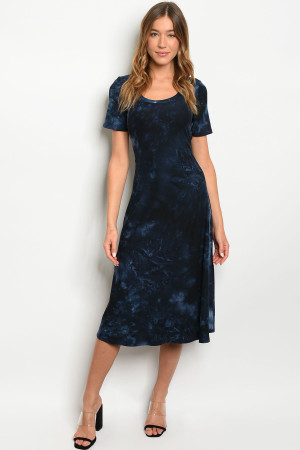 S9-20-1-D68695 NAVY TIE DYE DRESS 3-2