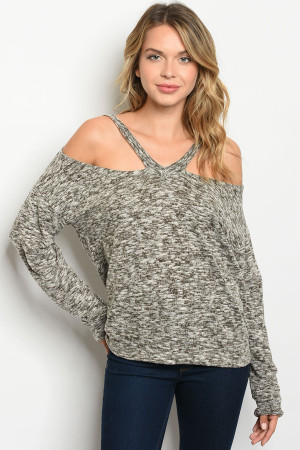 C52-A-1-T33499 IVORY OLIVE TOP 2-3-2
