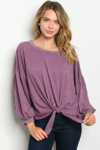 C40-A-1-T8450 PLUM WASHED TOP 3-2-2
