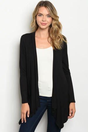 C28-A-4-CT2983C BLACK CARDIGAN 2-2-2