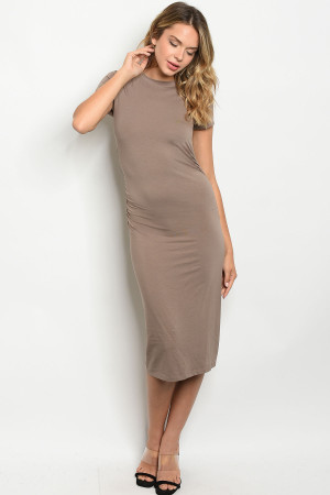 C22-A-7-D5936 TAUPE DRESS 2-2-2