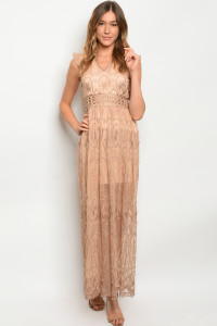 S9-15-2-D1381 TAUPE DRESS 3-2-2