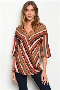 C88-A-2-T49625 MULTICOLOR STRIPES TOP 2-2-2-1