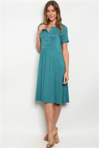 C98-A-5-D3705 TURQUOISE DRESS 2-2-2-1