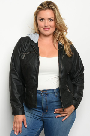S14-1-1-J27802X BLACK PLUS SIZE JACKET 1-3-2