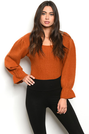 S12-12-3-B1821 RUST BODYSUIT 3-2-1