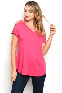 C56-B-2-T2233 FUCHSIA TOP 2-2-2