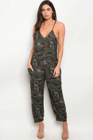 S9-13-2-J30272 GREEN CAMOUFLAGE JUMPSUIT 2-2-2