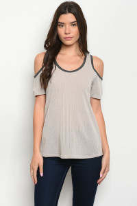 C66-B-5-T5111 TAUPE TOP 2-2-2