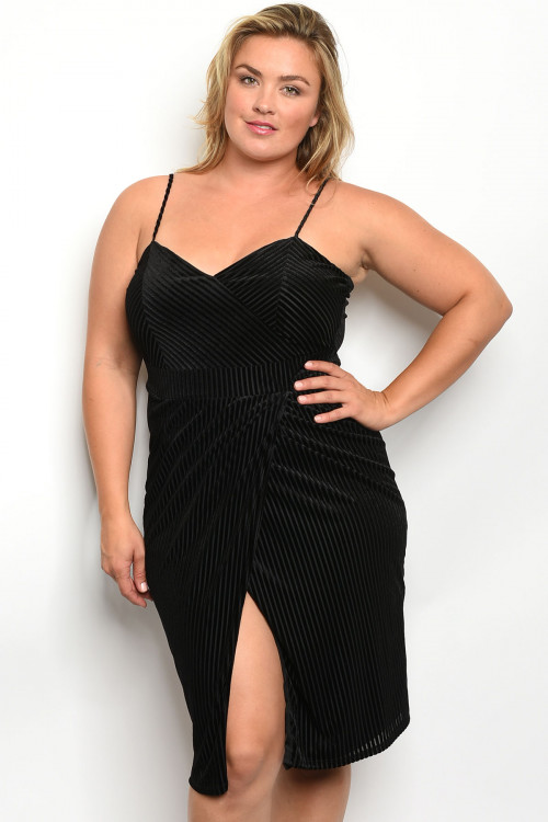 C14-A-2-D624X BLACK PLUS SIZE DRESS 2-2-2
