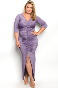 C29-A-4-D557X PURPLE WITH SHIMMER PLUS SIZE DRESS 2-2-2