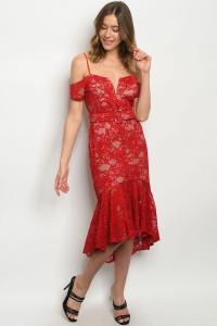 SA4-5-1-D73983 RED NUDE DRESS 2-2-2
