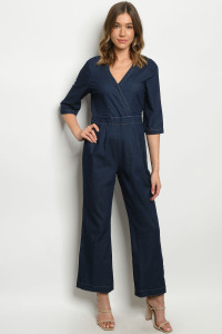 S22-3-3-J51787 DARK BLUE DENIM JUMPSUIT 2-2-2