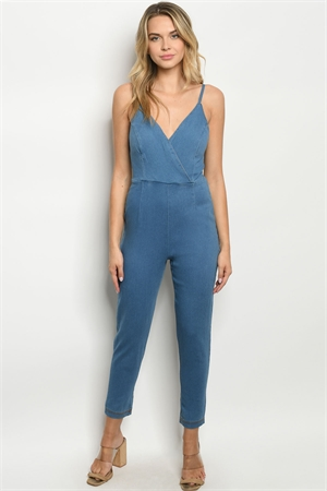 SA3-4-3-J38767 BLUE DENIM JUMPSUIT 2-2-2