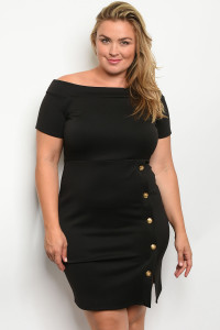 C79-A-7-D13739X BLACK PLUS SIZE DRESS 2-2-2
