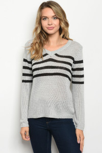 S22-6-2-S2371 GRAY BLACK SWEATER 3-3