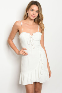 S16-8-4-D2487 OFF WHITE DRESS 3-2-1