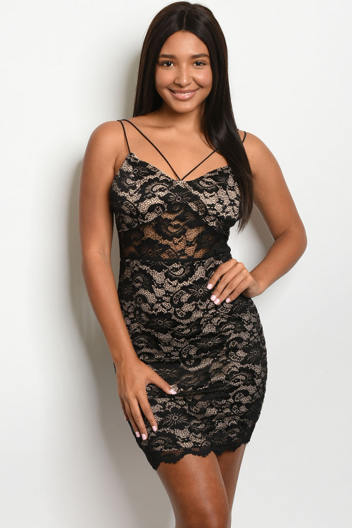 S10-14-2-D7211 BLACK NUDE DRESS 2-2-2