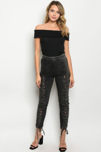 S8-7-1-P81034 BLACK DENIM PANTS 2-2-2