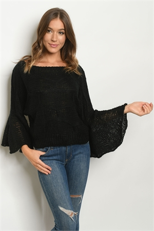 S16-7-3-S2897 BLACK SWEATER 3-2-2