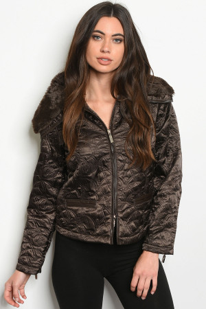 S11-20-1-J0397 BROWN JACKET 1-2-2-1