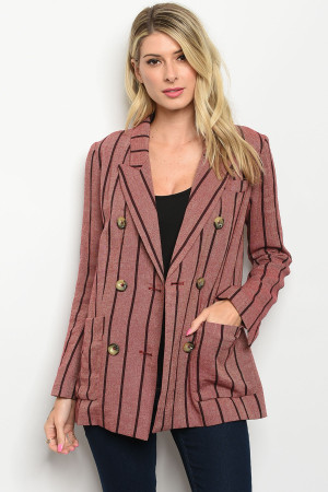 S19-6-2-J6100 MAUVE STRIPES JACKET 2-2-2