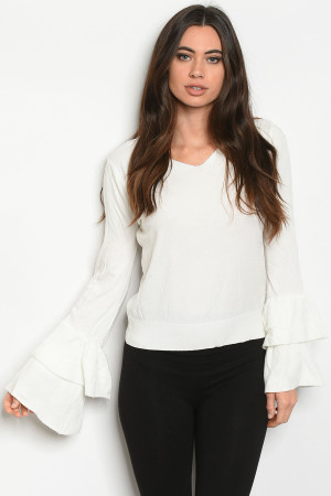 S9-6-2-T2405 WHITE SWEATER 1-3