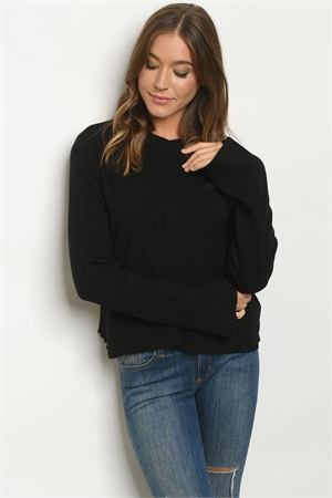 S9-16-2-T2410 BLACK SWEATER / 4PCS